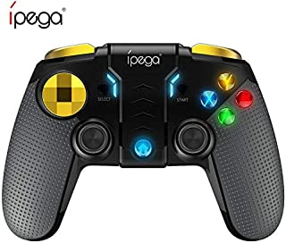 IPEGA PG-9118 ゲームパッド Bluetoothコントローラー PCゲーム コントロラー ワイヤレスゲームパッド PUBG Mobile/荒野行動 iPhone/iPad/Android/PC対応 連射機能 振動機能 高耐久ボタン (ブラック)