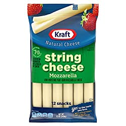 Kraft Low Moisture Mozzarella String Cheese (12 Count Bag)