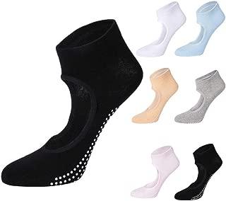 Women's Yoga Socks Anti-slip Socks Grip for Pilates Ballet Ballet Barefoot Exercise (6-piece set)