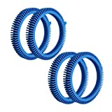 YEECHUN 4Pack Replacement for Pool Cleaners Poolvergnuegen - 896584000-143 Front Tire Kit with Super Hump & 896584000-082 Standard Back Tire