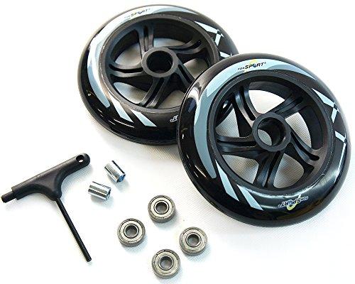 ForSport Rollen-Set für Scooter, inklusive Werkzeug -2 Rollen (14,5 x 3,3 cm), 4 Kugellagern (ABEC7 Carbon), 2 Spacer, 1 T-Schlüssel