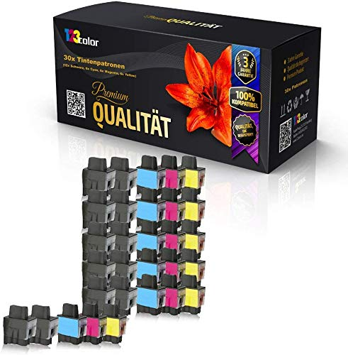 30x Alternative Tintenpatronen für Brother LC 900 DCP 315 CN DCP 340CW DCP 340DCW MFC 210 MFC 210C MFC 210 CN MFC 215C Sparpack Color Office Serie LC 900 K LC 900 C LC 900 M LC 900 Y 123color