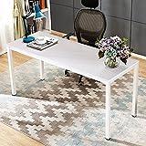 KDMB Necesita escritorios de Oficina de 160x60 cm, Escritorio de computadora, Escritorio de Madera Resistente, estación de Trabajo, Mesa de conferencias, Secretario de Gran tamaño AC3DW-160-3