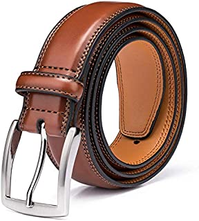 04161f58ff9 MORE · Men's Genuine Leather Dress Belts Made with Premium Quality -  Classic and Fashion Design for Work