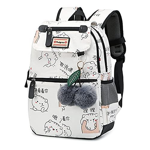 Ruigrea Mochila Escolar Niños Para Nylon Impermeable Linda Impresión InfantilSe Backpacks Adapta Con Bolsillos Laterales y Cinturón Regalos Para Niños y Adolescentes
