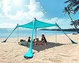 Best Beach Canopies - PETNOZ Beach Tent Canopy Sun Shade UPF50+, Easy Review