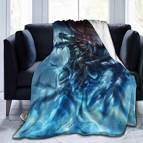 Searster$ Fleece Blanket Gardenflower Thunder Dragon Mantas cálidas de Franela Ultra Suave para Sala de Estar Dormitorio Sofá Sofá Silla Oficina Coche,50X40 Pulgadas