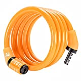 Etronic Security Multi-Purpose Self Coiling Cable Lock, 4-Feet x 5/16-Inch - Yellow