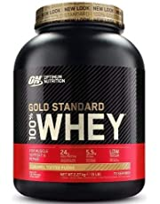 Optimum Nutrition 100% Whey Gold Standard, 5 lb Dose (Caramel Toffee Fudge)