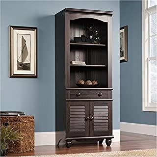 Bowery Hill Bookcase with Doors in Antiqued Paint