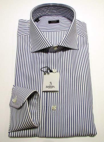 Barba Camicia Uomo Rigata Bianco E Azzurro MOD. Art. I1U32514103U (42)