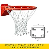 x5 rims - PROGOAL Breakaway Double Spring Basketball Rim, Heavy Duty Pro Slam Flex Rim Replacement 5/8-In, Standard Goal Reinforced Mounting Bracket Fit Most Size Backboards Indoor and Outdoor