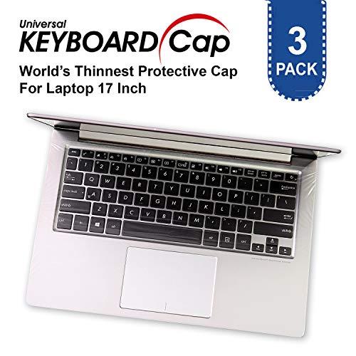 World Thinnest Universal Tastaturschutz für Laptops mit Einer Bildschirmdiagonale von 13,3/15,6/43,2 cm (13,3/15,6/17 Zoll), wasserfest, staubabweisend, TPU, 3 Stück 17