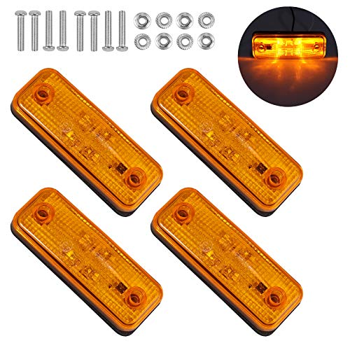 Justech 4PCs 4LED Luces Laterales para Remolque con E-Mark