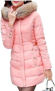 maweisong 女性フード暖かいコートフォークス毛皮パーカー屋外ダウンジャケット