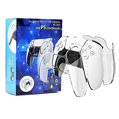 Vikisda for PS5 ケース 最新分離式カバー PS5カバー PS5ケース 耐久性PC素材 キズ防止 衝撃吸収 着脱簡単 擦り傷防止 取り外し可能 指紋防止 クリア 透明感 PS5 本体保護 PS5 コントローラー用