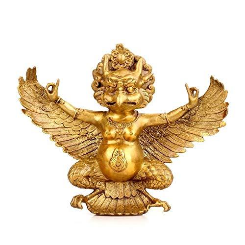 Wohnkultur Zubehör Statue Handwerk Figurine Buddhist Figur Reines Kupfer Messing Adler Garuda Buddha Statue auszutreiben Böse Geister Home Decor