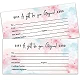 25 Blank Gift Certificates for Small Business, Clients or as Luxury...