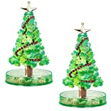 (US in Stock)Magic Growing Crystal Christmas Tree, DIY Christmas Decorations Tree, Funny Educational and Party Toys, Kids DIY Felt Magic Growing christmas gifts/Xmas Ornaments (2 PCS)
