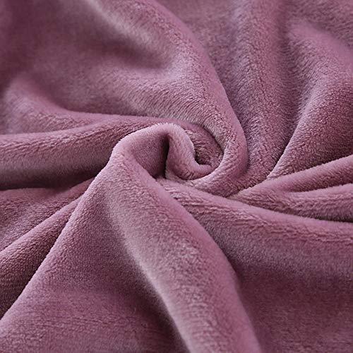 XUMINGLSJ Mantas para Sofa, Mantas para Cama de Franela Reversible, Mantas Ligeras de 100% Microfibra - Fácil De Limpiar - Extra Suave Cálido -púrpura_El 120 × 80cm