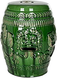 Safavieh Paradise Dragon Jade Green Ceramic Garden Stool