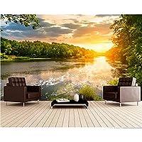 壁紙3天河風景夕日3D写真壁紙壁画リビングルームテレビの背景-300cm x 210cm
