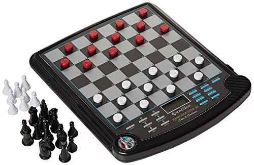 EXCALIBUR Kingmaster III Electronic Chess & Checkers Game (Magnetic Model 911E-3). Battery Operated.