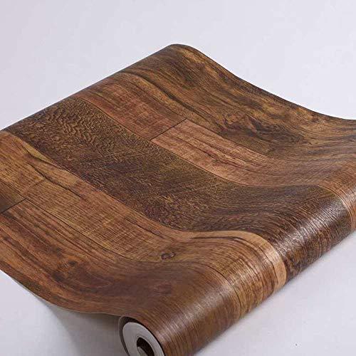 Vintage waterdicht behang donkere koffiekleur houten plank behang restaurant woonkamer hotel kledingwinkel niet zelfklevend milieuvriendelijk behang donkerbruin