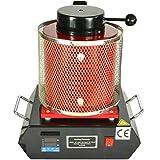 VEVOR Horno de Fusión Automático Digital 2KG para Barra de Vertido de Oro y Plata con Crisol de Grafito B