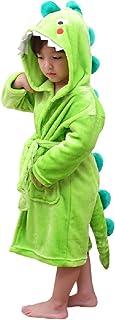Elefante Dinosaurio Albornoz Niño Bata Casa para Niños Albornoces Suave Gimnasio Piscina Regalo de cumpleaños (Verde, 3-5 años)