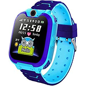Smart Watches for Kids Boys Girls Children Music Player Two-Way Call Puzzle Games Camera Recorder 2D Touch Screen 2G Sim Card Birthday Gifts for Boys and Girls 3-12 Year Old Blue Pink