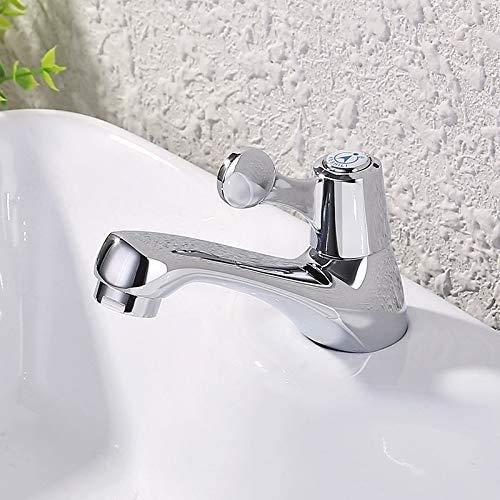 DJPP Grifos de Agua, Grifo de Baño, Grifo de Lavabo Grifo de Lavabo de Baño Frío Individual Lavabo de Lavabo Grifo de Agua Fría Boquilla de Agua de Apertura Rápida Shui Tsui Grifo de Agua de un Solo