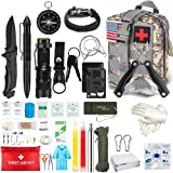 Camping Emergency Survival Kit, 100 PCS Wilderness Rescue Tactical Equipment Gift for Men, for Outdoor Survivalists Camping Emergency Response