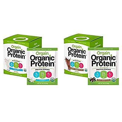 Orgain Organic Plant Based Protein Powder, Vegan, Low Net Carbs, Non Dairy, Gluten Free, Lactose Free, No Sugar Added, Soy Free, Kosher, Non-GMO, 1.59 Pound