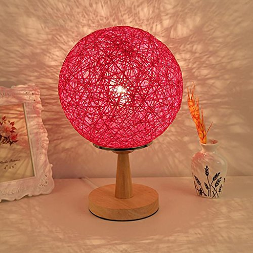 Lampe de chevet de chambre à coucher lampe de table lampe de table de décoration lumière de nuit lampe de table de ficelle (couleur : A)