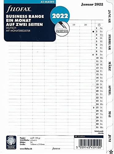 Filofax A5 Multi 1M/2S tabbed (deutsch)2022, 22-68544