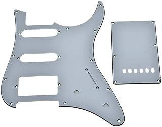 Kaish - Golpeador de guitarra HSS con placa trasera Trem para Yamaha PACIFICA (3 capas), color blanco