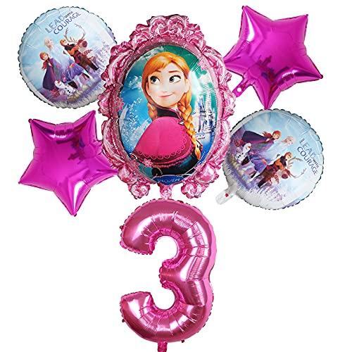 ENXI Globos 6 unids Disney congelado Princesa Elsa Helio Globos número Bola Baby Baby Ducha Decoraciones Globos niños Juguete Fiesta Fiesta de cumpleaños Globos de Aire ( Color : Mint Green )