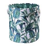 LCM EVA Canvas Tela Redondo Cesta de lavandería Ropa Sucia Organizador Juguetes Caja de Almacenamiento Bols Bucket Hillper con Asas (Color : G254544)