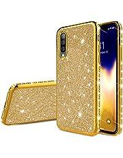 Urhause KunyFond - Carcasa de silicona para Samsung Galaxy A70, diseño de purpurina