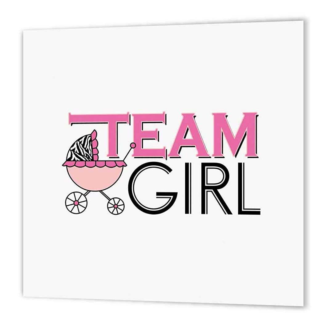 3dRose ht_57089_1 Gender Reveal Party Team Girl Pink Iron on Heat Transfer, 8 by 8
