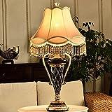 LXGANG Lampada da tavolo Lampade da tavolo, di personalità semplice lampada europea resina, creativo Camera Lampada da comodino, illuminando la luce della lettura del salone Notte, Lampade da tavolo
