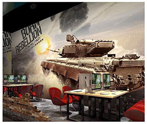 WWMJBH 3D Restaurant Wandbild Tapete Stereoskopische Tarnung Militärischen Thema Kriegspanzer 450X300Cm Selbstklebend Wandbild Moderne Wohnzimmer Und Tv Hintergrund Wand Foto Wandbild 3D Dekor Wandtat