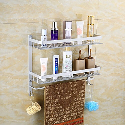 MBYW moderne minimalistische hoge dragende handdoek rek badkamer handdoekenrek Badkamer appel plaat handdoek rek hanger dubbele haak enkele staaf Geschikt voor badkamer, slaapkamer, keuken, kantoor