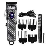 Cortadora de cabello eléctrica, cortadora de cabello profesional para hombres, carga USB, cabezal de aceite, corte de pelo, kit de corte de pelo, peinado, peluquería, afeitadora de cabeza