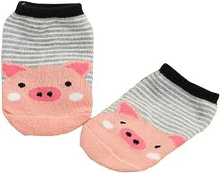 Black Temptation, [2 pares cerdo rosado] niño calcetines de algodón calcetines para bebé cabrito del niño, 2-4 años