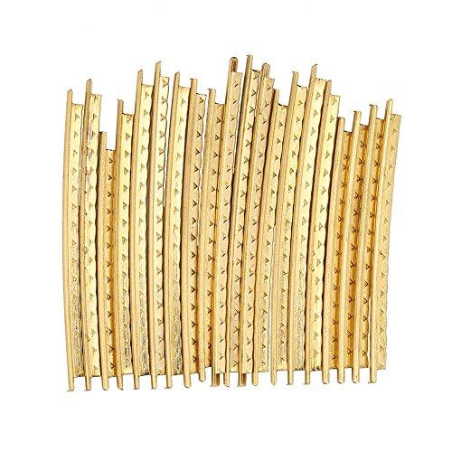 Juego de 20 piezas de alambre para traste de guitarra de latón de 2,0 mm para guitarras de madera