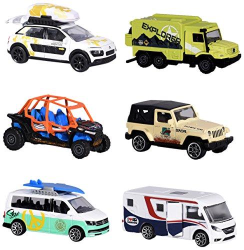 Majorette 212057601 Explorer Assortment, Entdecker-Fahrzeug, Miniaturfahrzeug, 6 Versch. Modelle, Die-Cast, 7,5cm