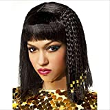 Pelucas para Mujeres, Cleopatra Fancy Dress Gold Beads Scorpion Wig Cosplay Peluca de Fiesta