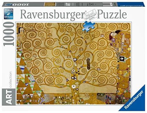 Ravensburger Puzzle 1000 Pezzi, L'albero della vita - Quadro di Klimt, Puzzle Klimt, Collezione Arte, Puzzle Arte per Adulti e Ragazzi, Stampa di Alta Qualità